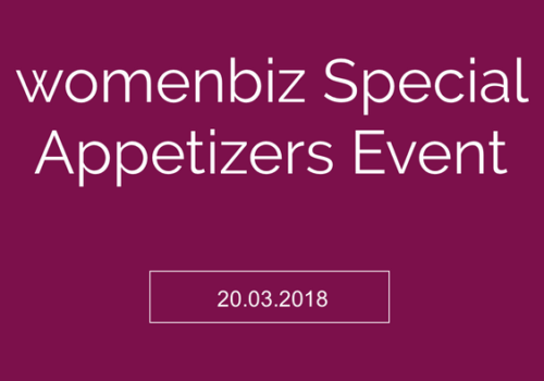 womenbiz special appetizer event
